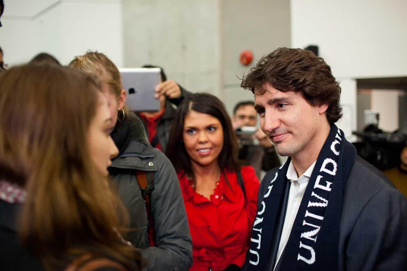 Trudeau visits University of Toronto campus