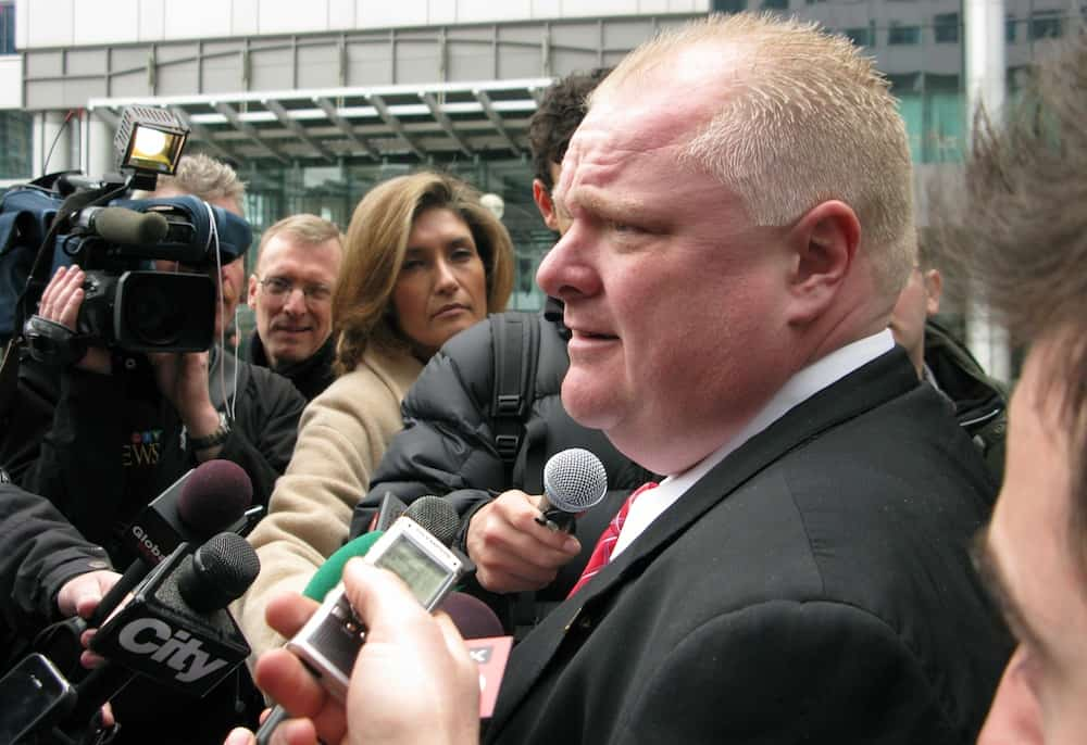 Toronto mayor Rob Ford has faced scrutiny in the media following allegations of drug use. WEST ANNEX NEWS/ FLICKR