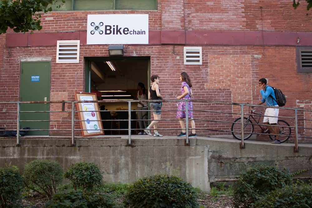 Bikechain moves to North Borden Building