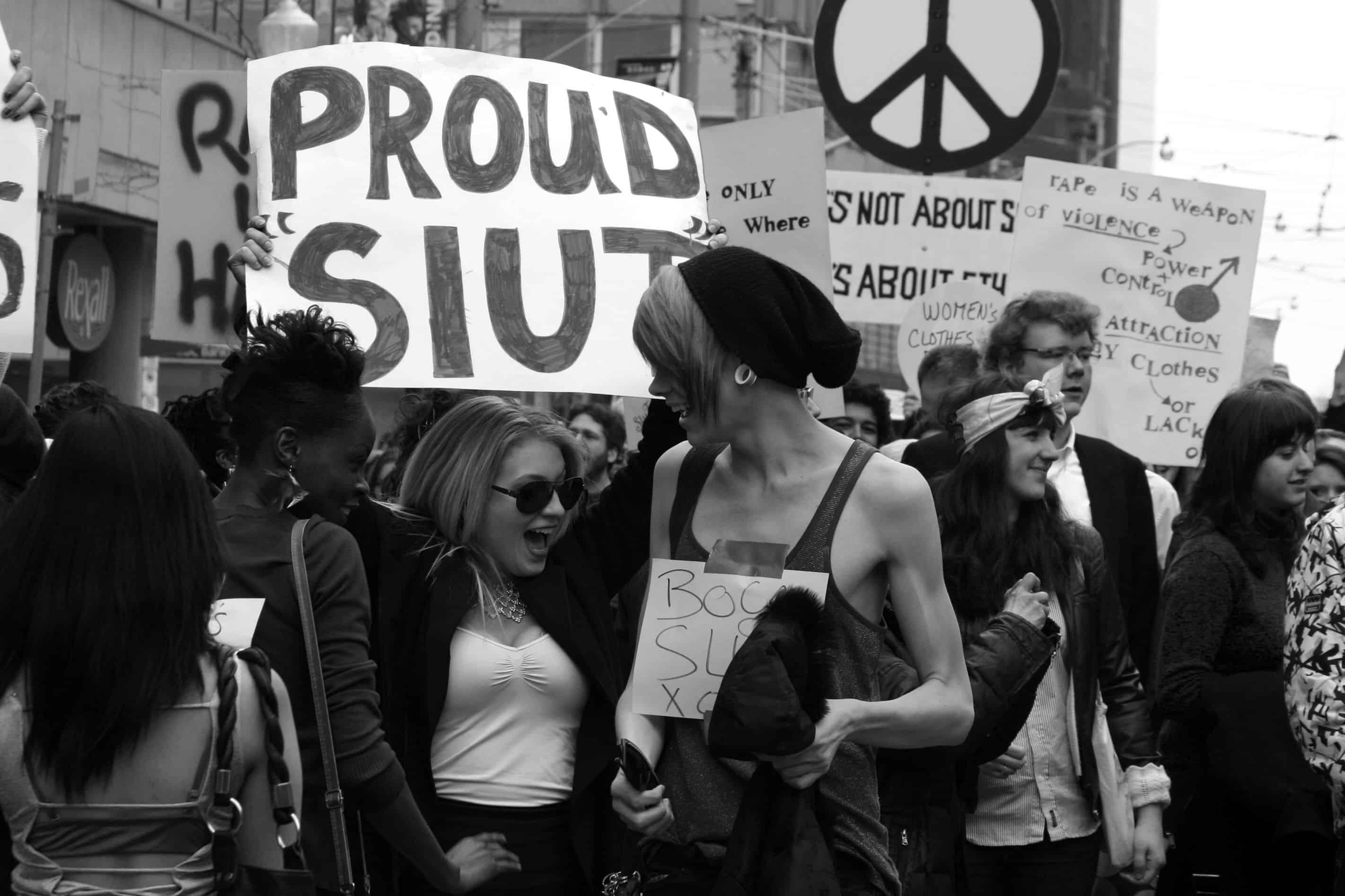 Slut walks, pictured here, aim to reclaim the word