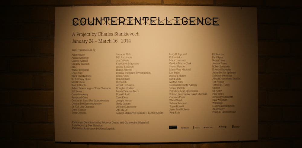 Counterintelligence through Charles Stankievech