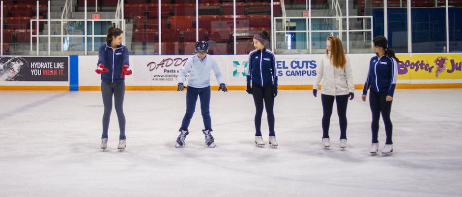 Four skaters, one reporter