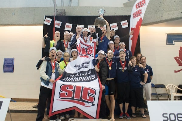 The men's swimming team has won 18 national titles. PHOTO COURTESY OF VARSITY BLUES