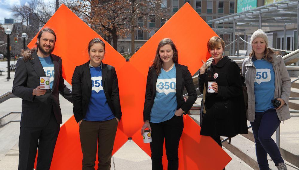 Toronto350 activists in front of Sidney Smith. MILAN ILNYCKYJ/FLICKR