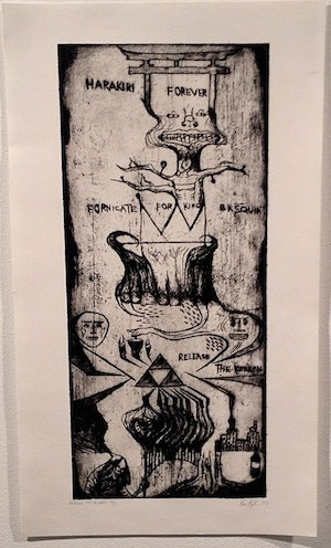 'Release the Kraken,' an etching collaboration by all three student-artists. EMMA KIKULIS/THE VARSITY