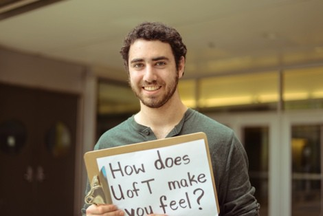 "David Fishbayn, co-founder of the ""How does U of T make you feel?"" project. HUANG HUANG/ THE VARSITY"