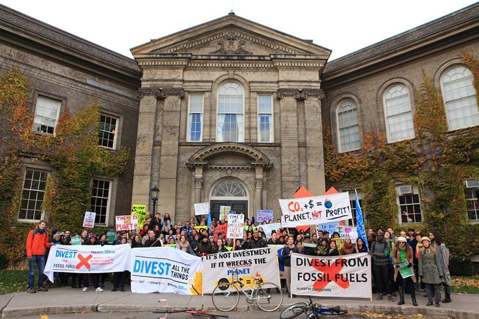 Students march for a fossil-free U of T
