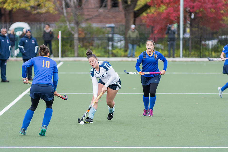 Varsity Blues compete against the University of Victoria Vikes in CIS round-robin game.