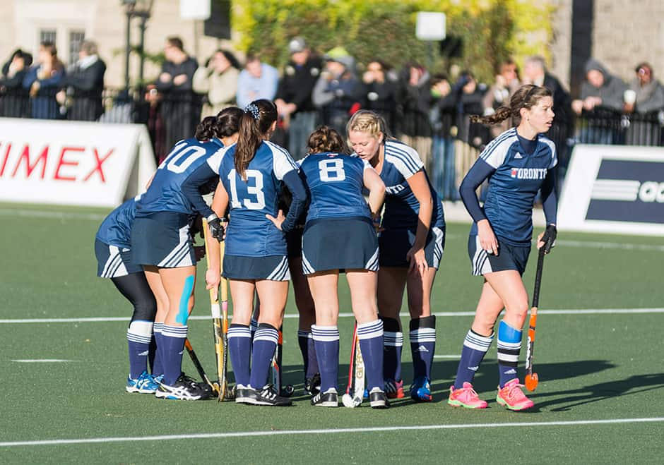 U of T athletes gather before championship game against UBC.