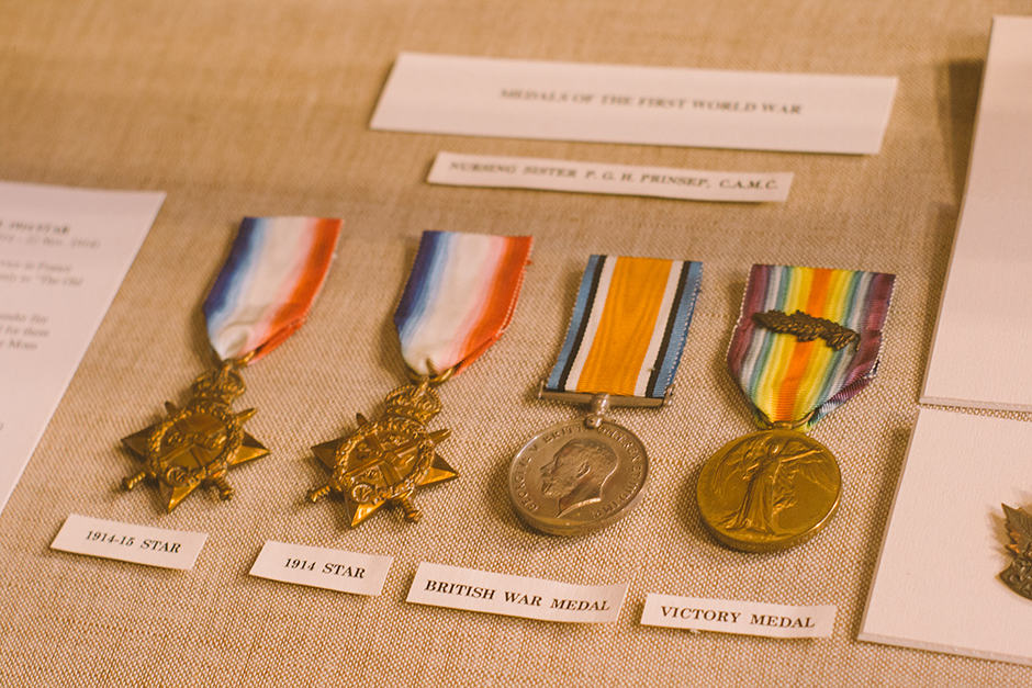Medals from the First World War. JENNIFER SU/THE VARSITY