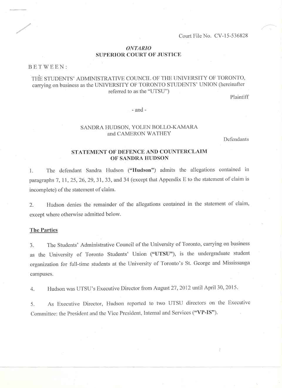 former utsu executive director sandra hudson files