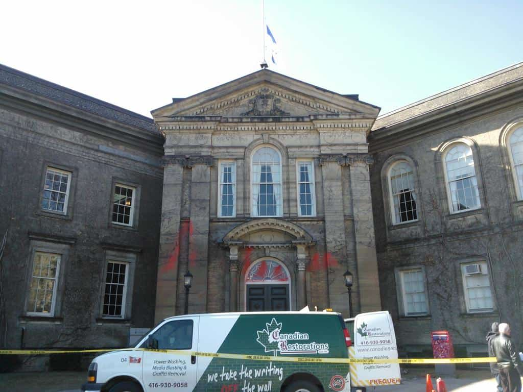 Simcoe Hall struck by vandalism