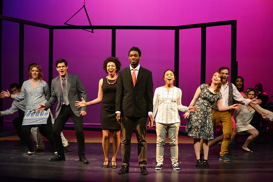 The cast of Company sings their hearts out. RUSABA ALAM/THE VARSITY