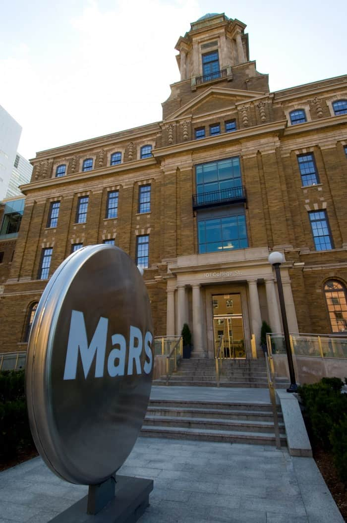 Photo of the MaRS Discovery District building. CC via Flickr by the City of Toronto.