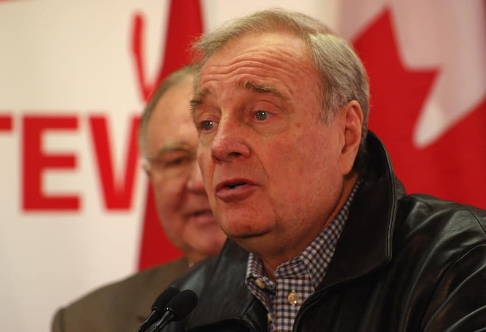Former Prime Minister Paul Martin visits Innis Town Hall