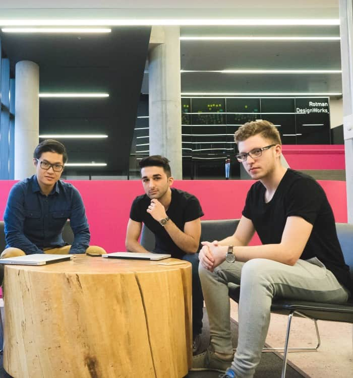 Victor Chen (Left), Amir Motahari (C), and Maxim Antipin (R).