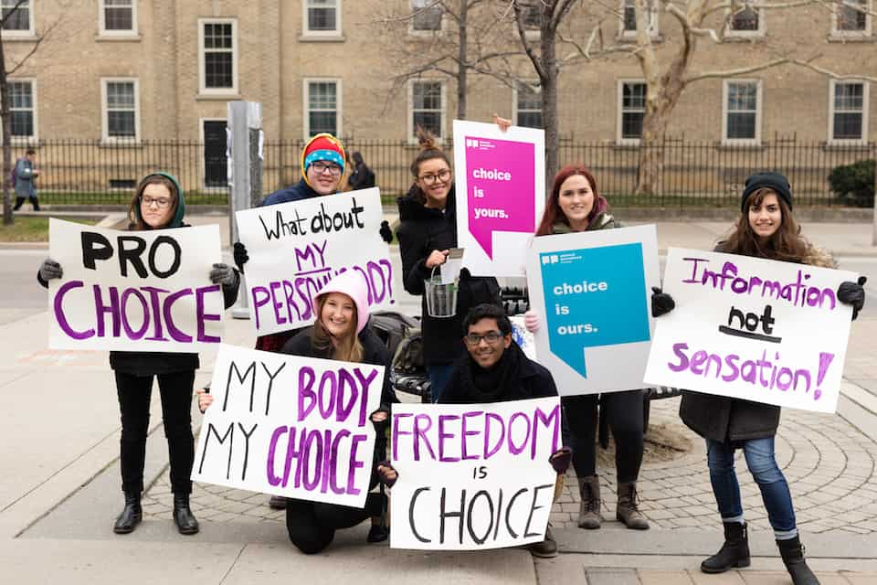 Students rally for pro-choice