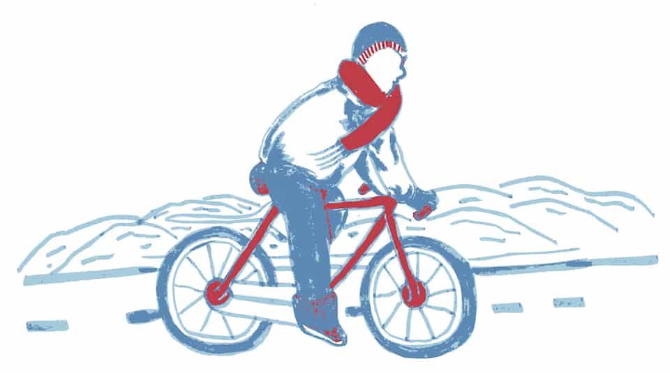 Biking in a winter wonderland