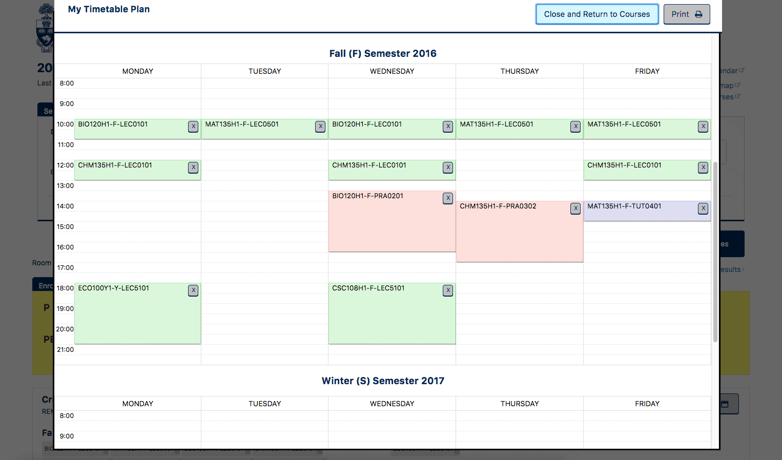 The Faculty of Arts & Science introduces a timetable maker. COURTESY OF UNIVERSITY OF TORONTO WEBSITE