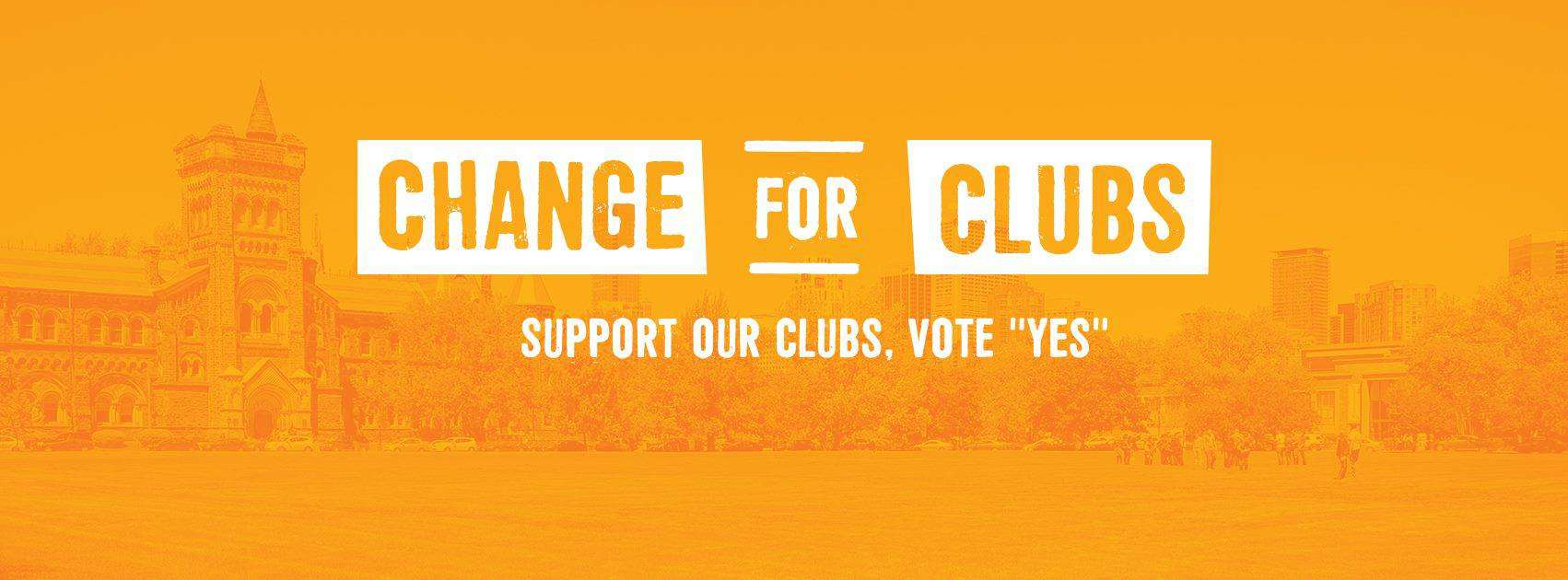 Online promotional material for Change for Clubs, the 'Yes' campaign for the referendum. VIA FACEBOOK