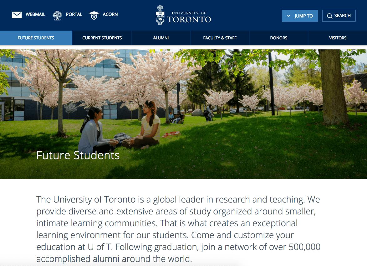 University of toronto dating website