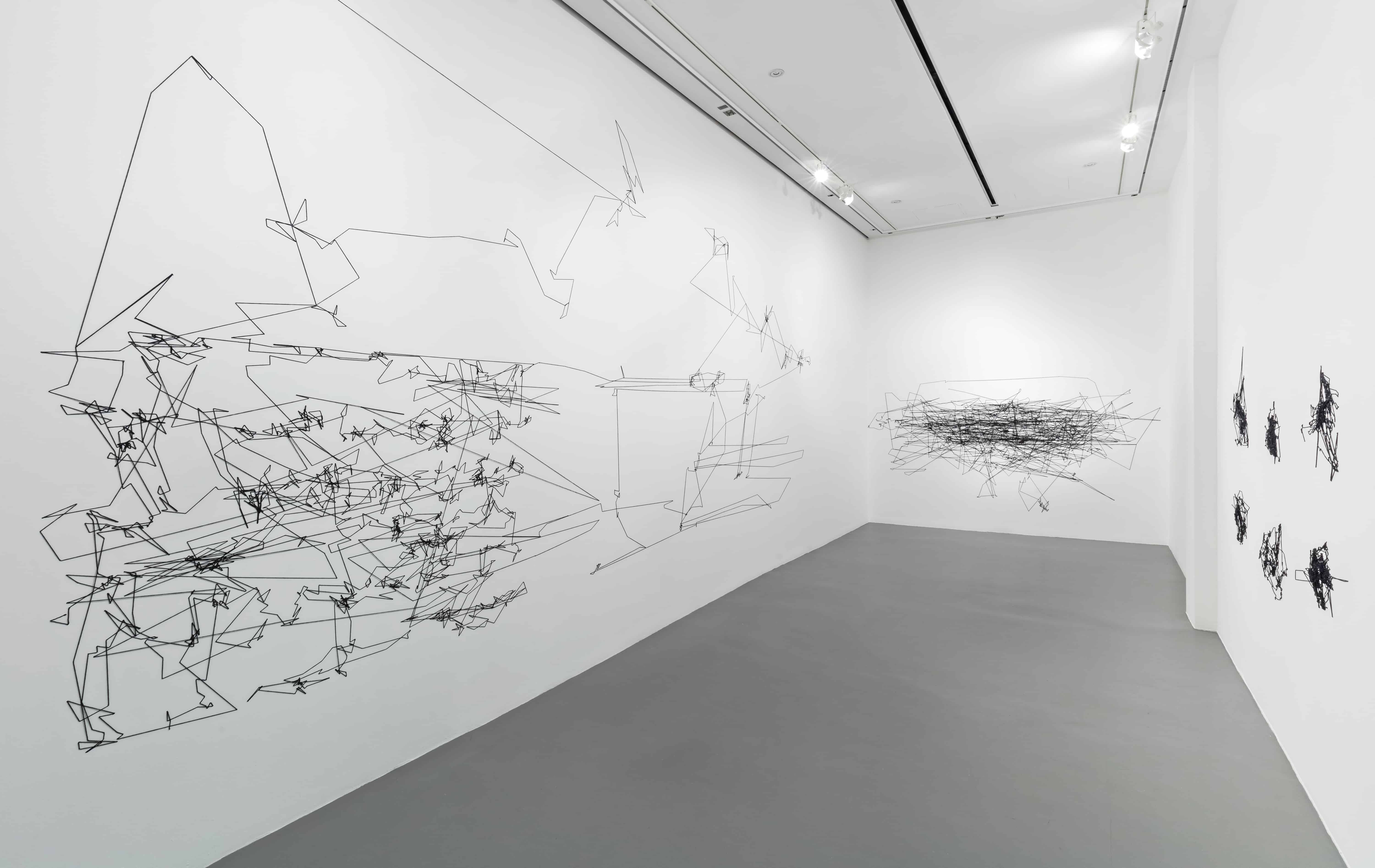 Julien Prévieux, Elements of Influence (Modulation), 2017, Installation view. PHOTO BY TONI HAFKENSCHEID COURTESY OF JULIEN PREVIEUX AND BLACKWOOD GALLERY