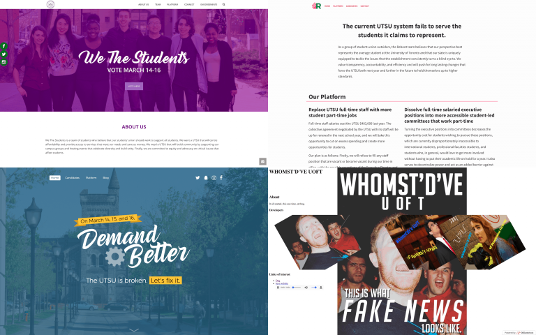 A look into campaign techniques in the UTSU elections