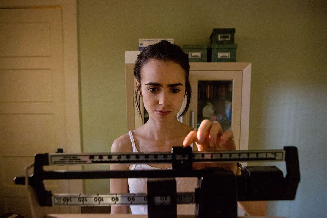Lily Collins plays a sufferer of anorexia nervosa in Netflix's To The Bone.