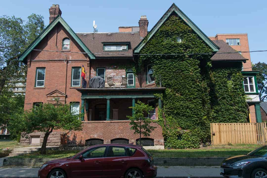 Delta Kappa Epsilon on 157 St George Street, which had more by-law investigations than any other fraternity in the Annex in the last two years.
