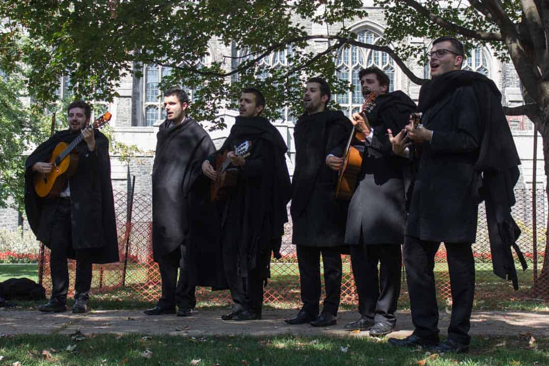 The Estudantina Universitaria De Coimbra performs in the Victoria College quad. SABRINA ALAMEIDA/THE VARSITY