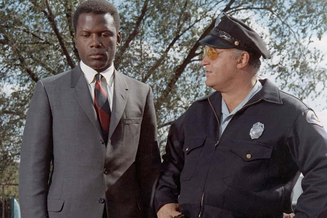 Sidney Poitier (left) in Norman Jewison'sIn the Heat of the Night.PHOTO COURTESY OF TIFF