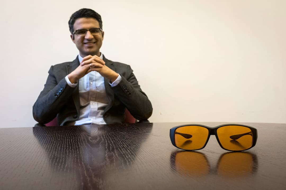 U of T Engineering master's student, Amol Rao, is the founder of a startup called Somnitude that helps athletes both get a better-quality sleep and adjust to major time-zone shifts. COURTESY OF SOMNITUDE.