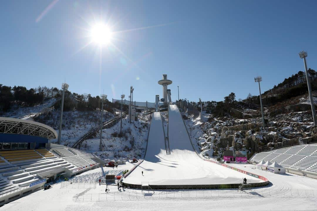 The ski jumping venue at Pyeongchang. ALPESIA/CC FLICKR