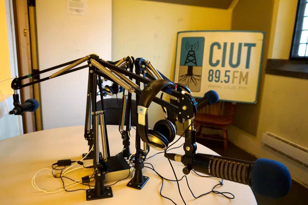 CIUT broadcasts from inside Hart House at UTSG. SOFIA LUDWIG/THE VARSITY