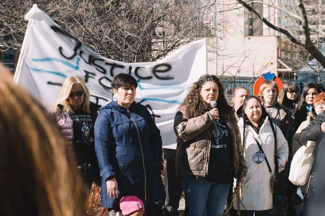 Speakers at the rally denounced mistreament of Indigenous people in the justice system. ANDY TAKAGI/THE VARSITY