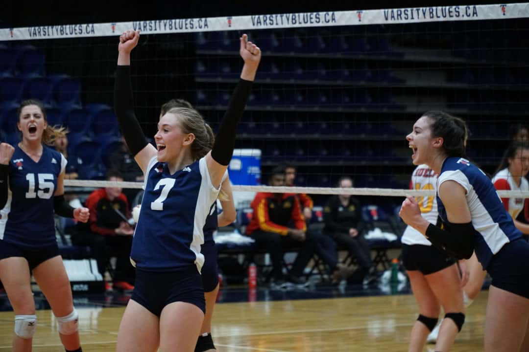 Blues women's volleyball beat Guelph Gryphons