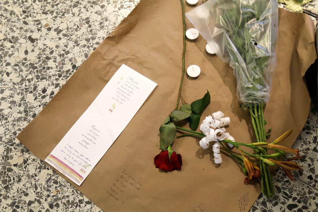 Makeshift memorial in Bahen Centre. SHANNA HUNTER/THE VARSITY