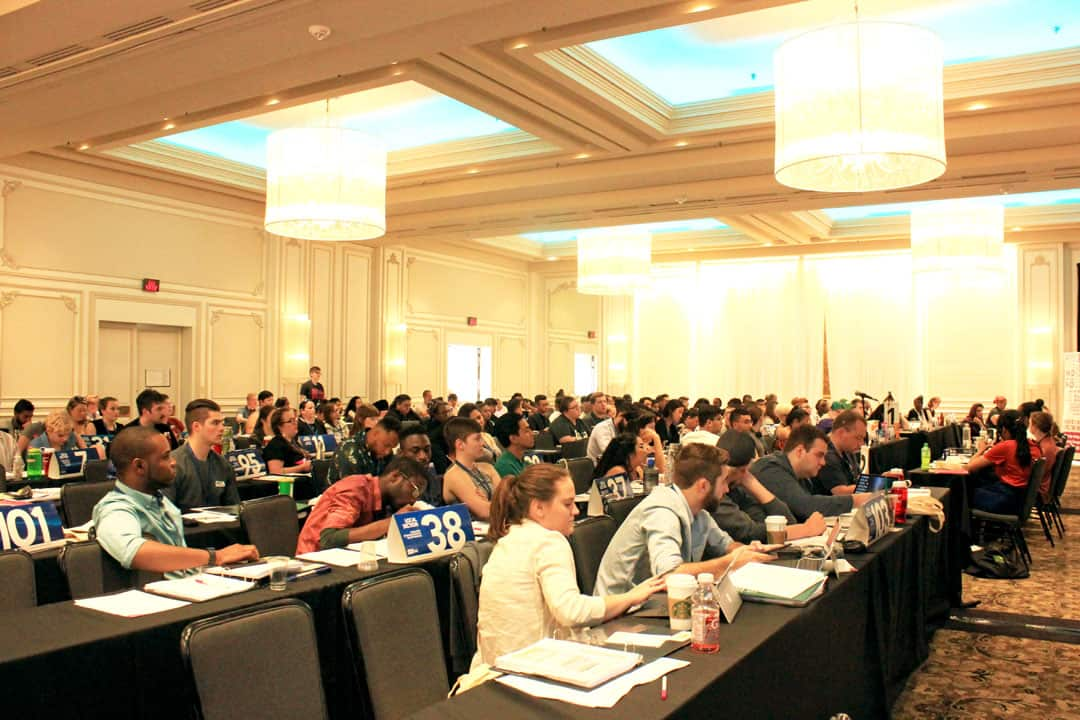 The Opening Plenary of the Canadian Federation of Students' National General Meeting, held in Gatineau, Quebec. JOSIE KAO/THE VARSITY
