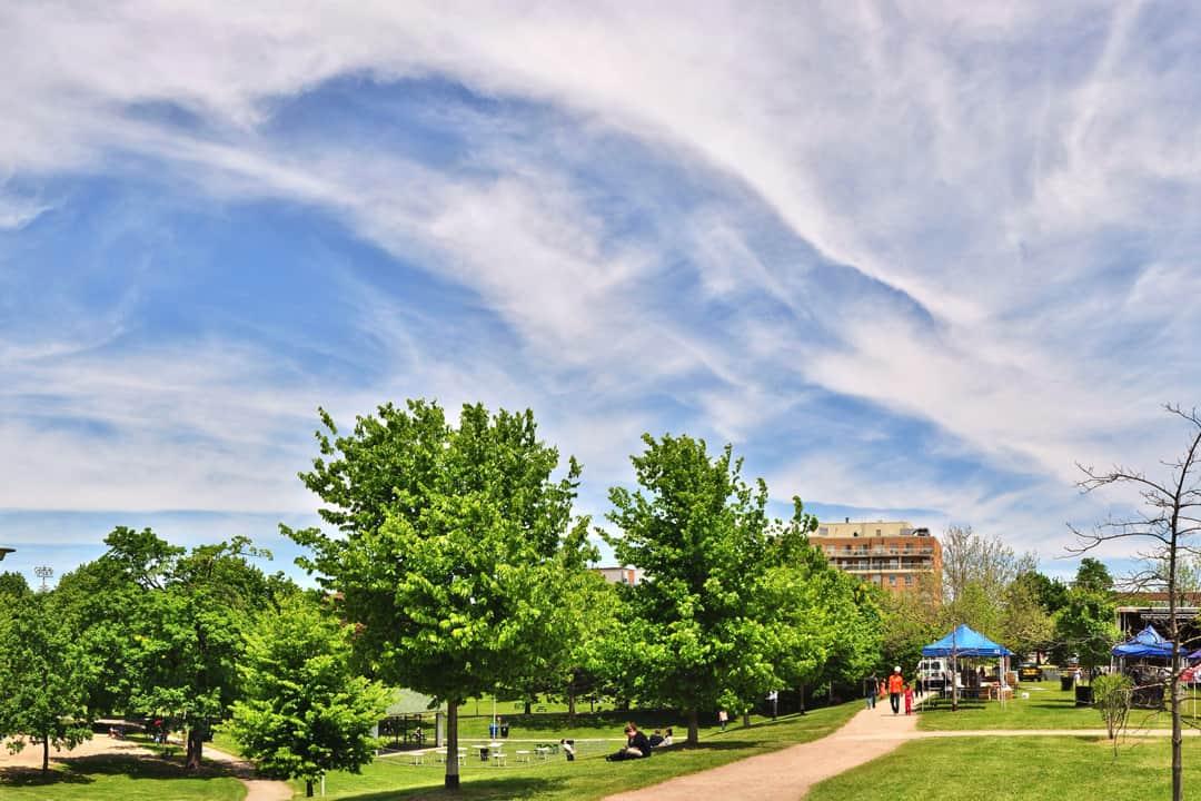 A scenic view of Christie Pits Park. MYKOLA SWARNYK/CC FLICKR