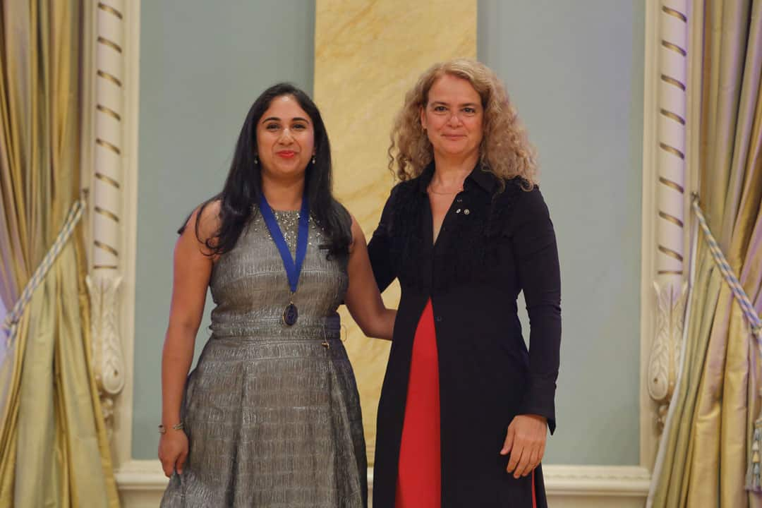 Tamara Baluja with Governor General Julie Payette. PHOTO BY PATRICK DOYLE