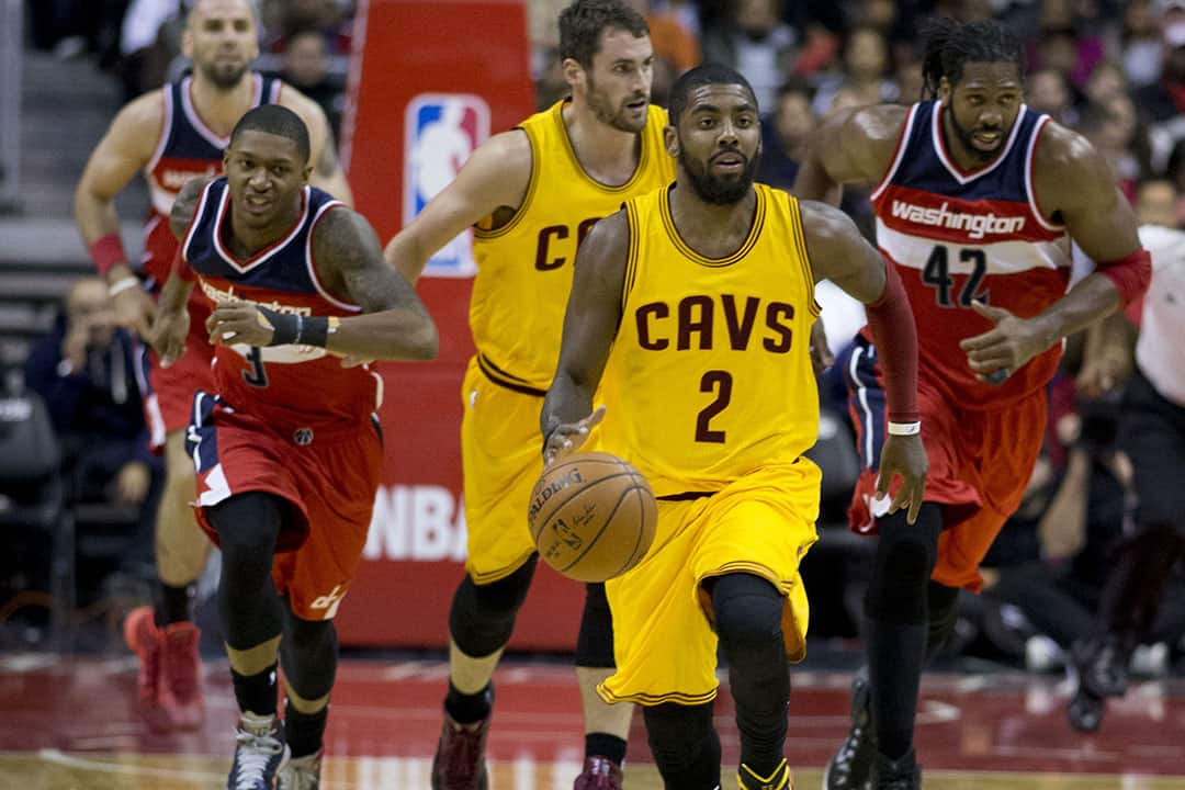 Kyrie Irving leads the growing trend of NBA players adopting a vegan diet. KEITH ALLISON/CC FLICKR