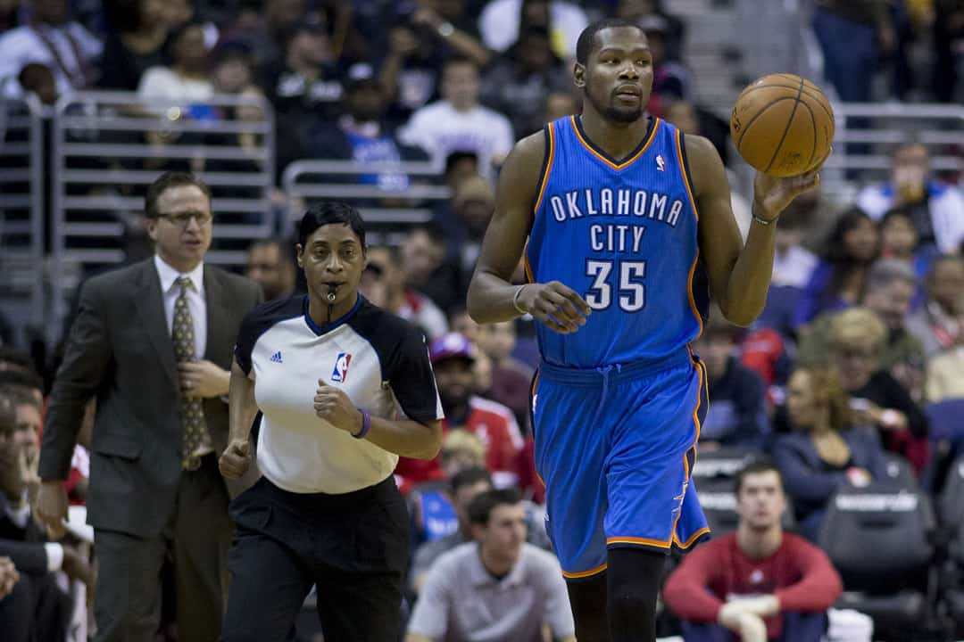 Kevin Durant played eight seasons for the Oklahoma City Thunder. KEITH ALLISON/CC FLICKR