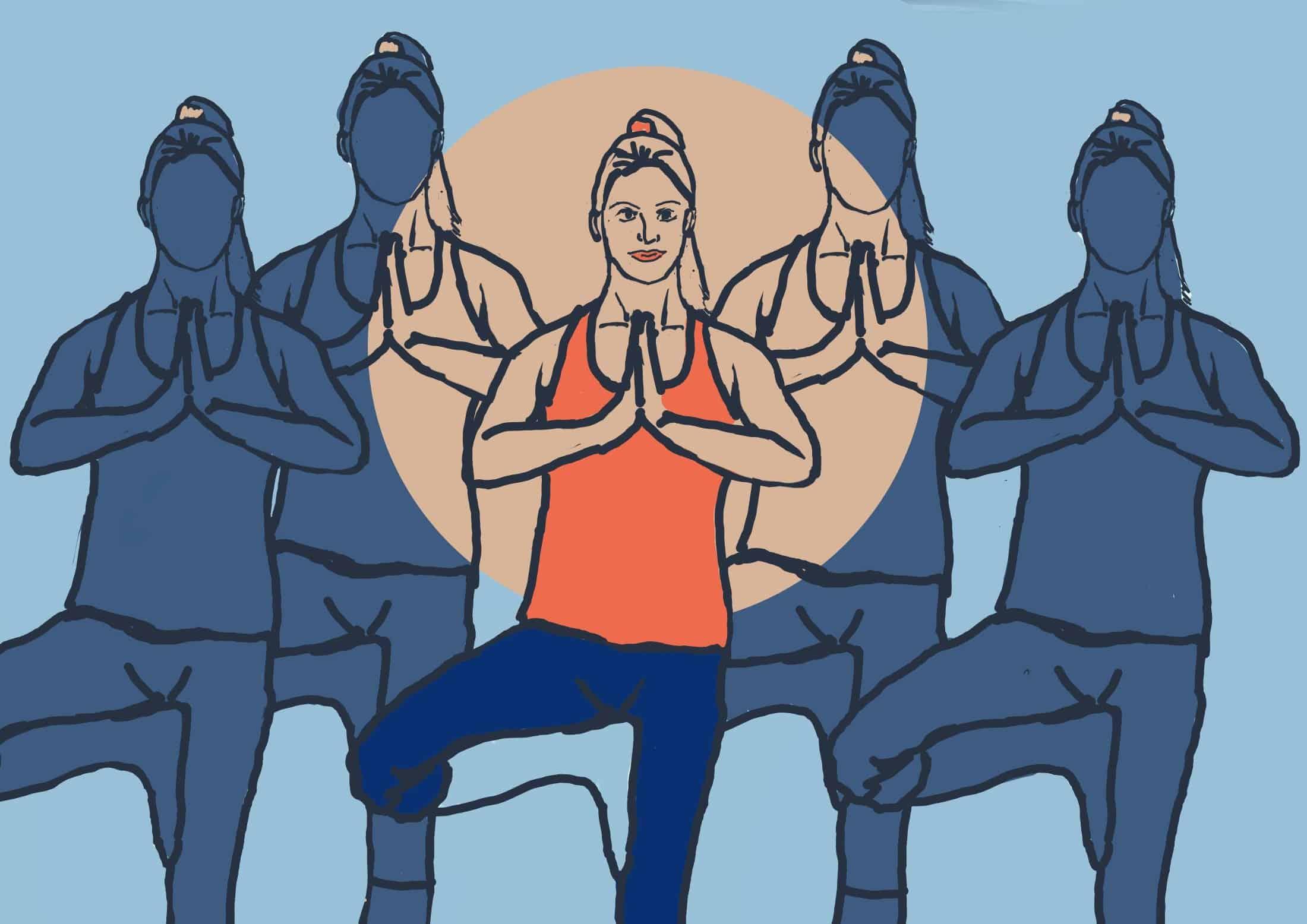 Hart House drop-in: Striking a yoga pose