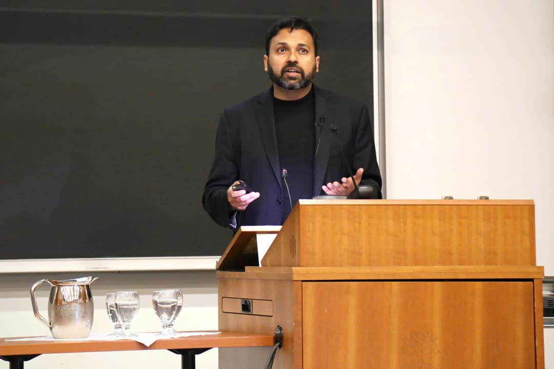 Ali Rizvi recently gave the Snider Lecture at UTM. SHANNA HUNTER/THE VARSITY