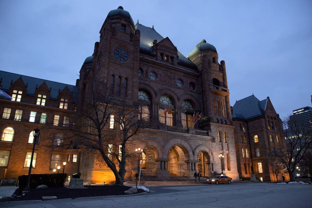Queen's Park, the seat of the Ontario government. DINA DONG/THE VARSITY