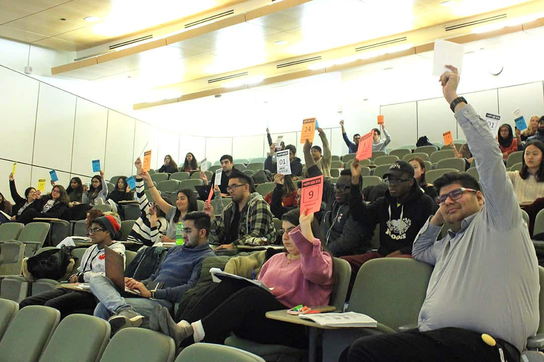 Many SCSU members expressed concern about funding certain equity groups.  JOSIE KAO/THE VARSITY