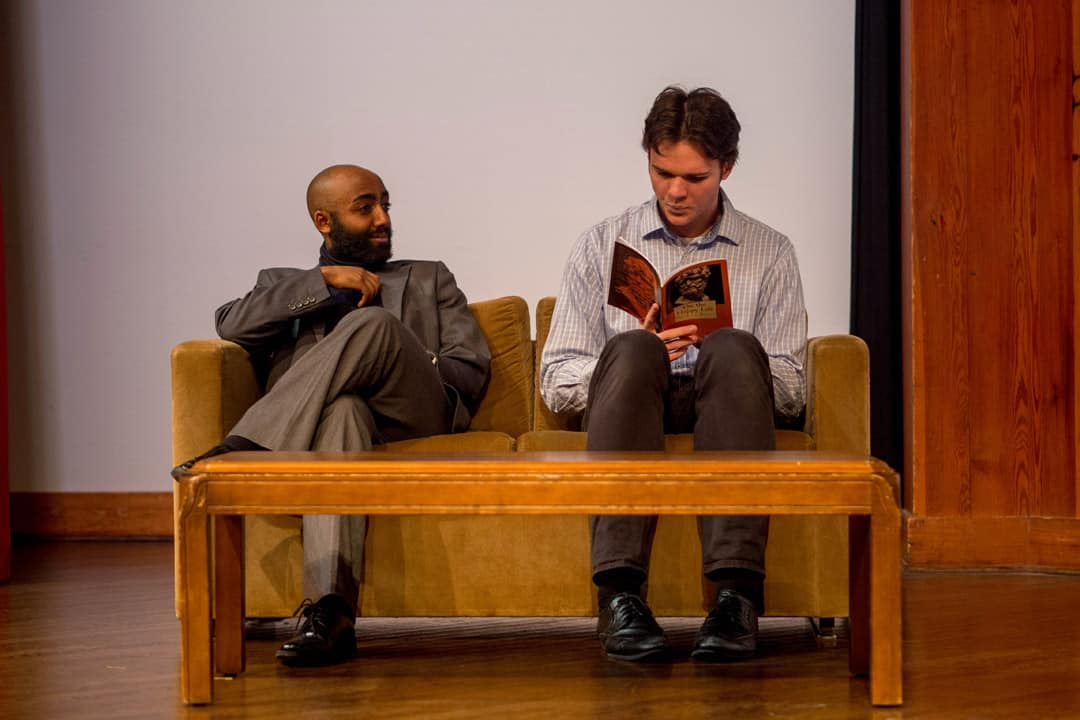 Serge (Ezera Beyene), and Yvan (Brendan Rush) (from left to right). PHOTO BY MELODY CHAN, COURTESY OF TCDS