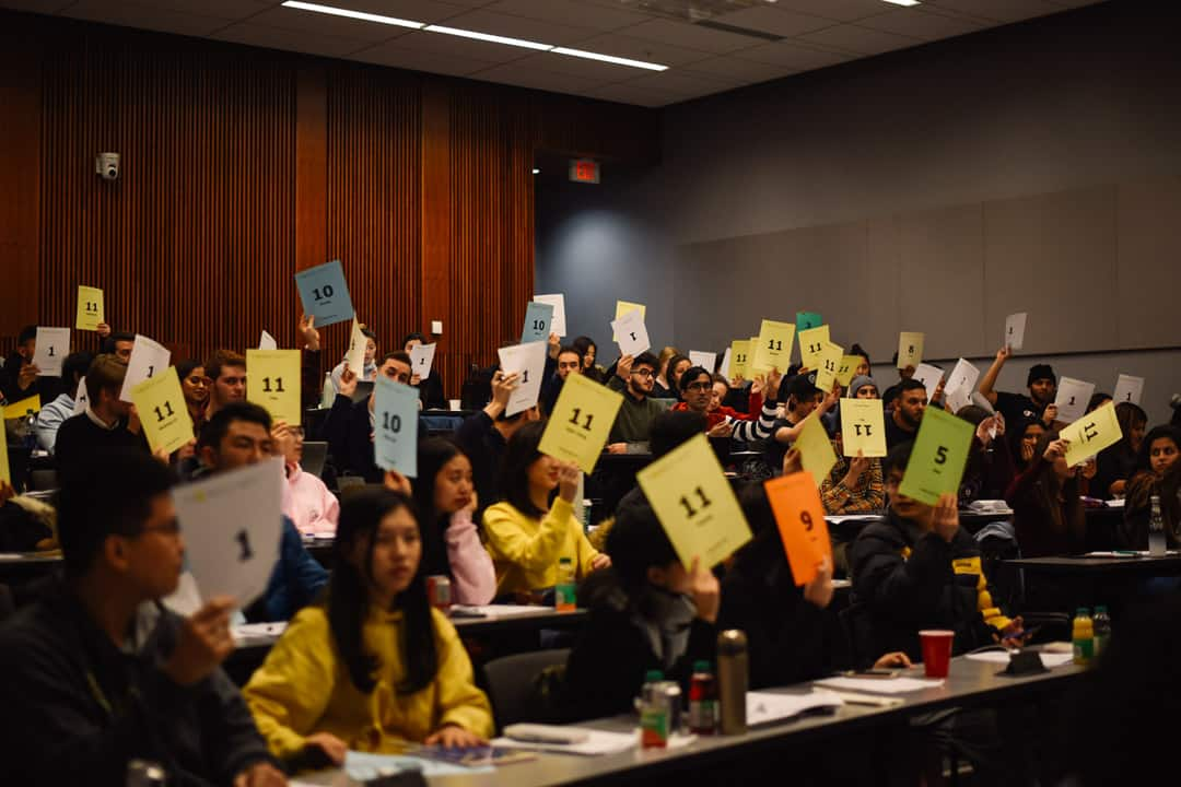 Students at the UTMSU AGM approve formal separation from the UTSU, reject hotly-contested motion on online voting. ANDY TAKAGI/THE VARSITY