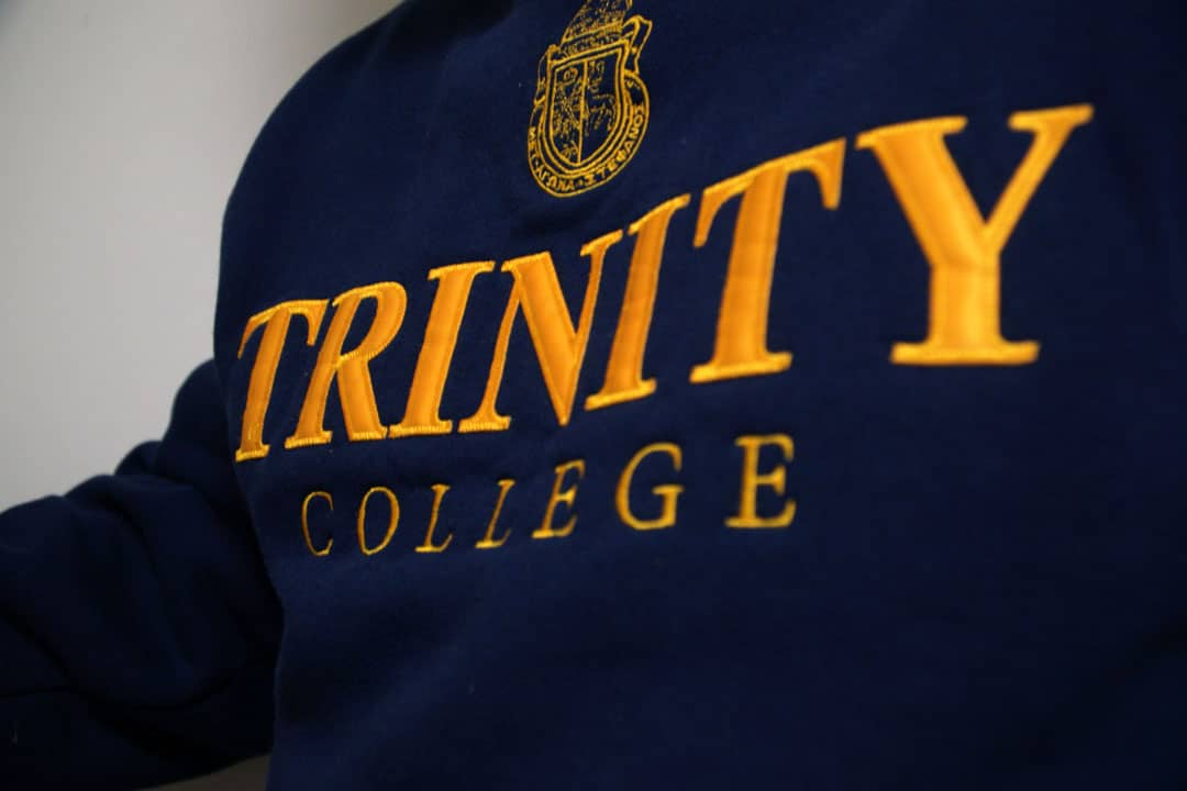 """During frosh week, the other five colleges on the downtown campus often chant, """"Trin, Trin, your daddy got you in!""""   SAMANTHA YAO/THE VARSITY"""