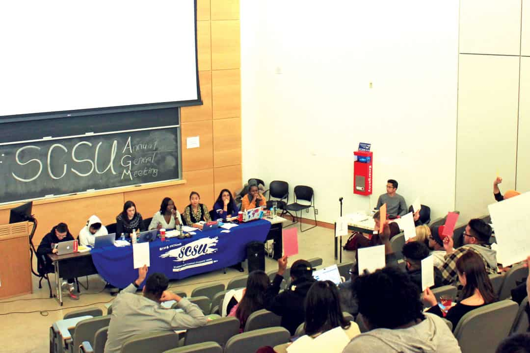The SCSU AGM in November was followed by controversial decisions by the Board of Directors. JOSIE KAO/THE VARSITY